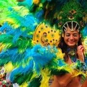 Carnaval en sals dansen in Rio de Janeiro Brazilie