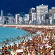 Copacobana Beach in Rio de Janeiro Brazilie
